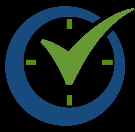 order time check mark logo