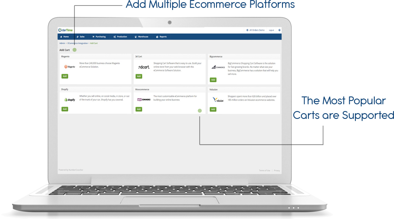 ecommerce and retail with order time inventory
