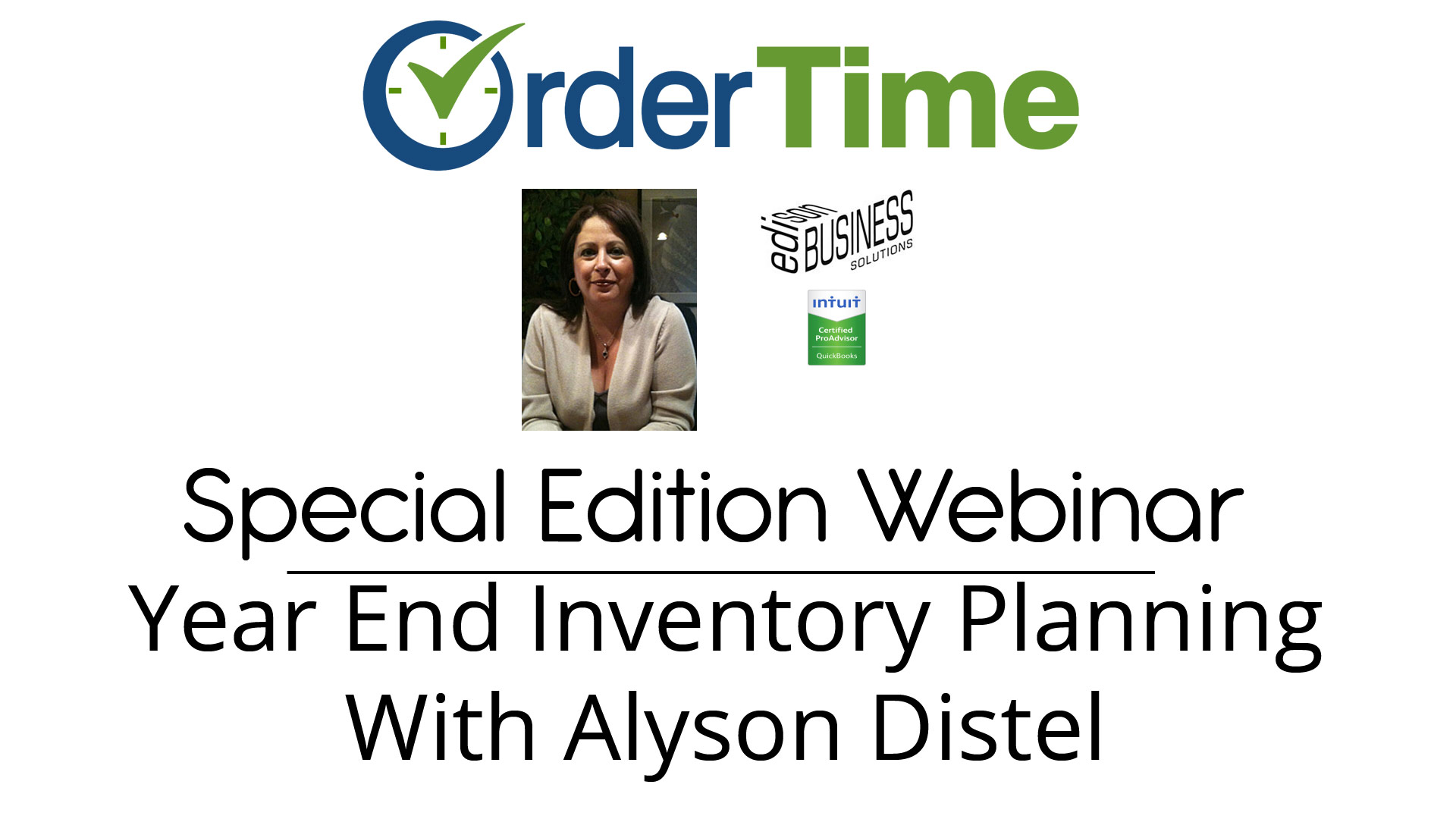 Special Edition Webinar - Year End Inventory Planning